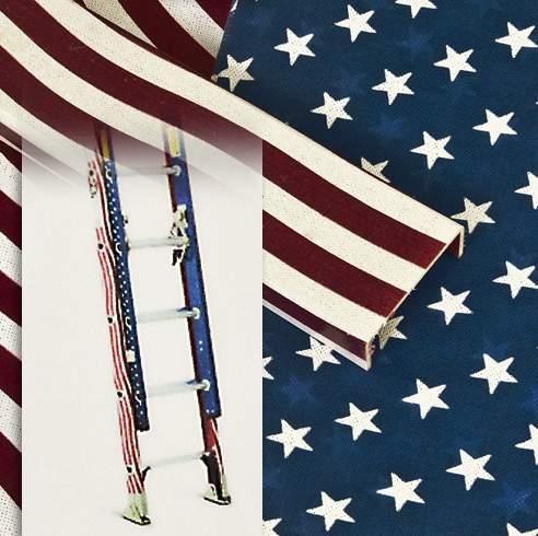American Flag design on a ladder